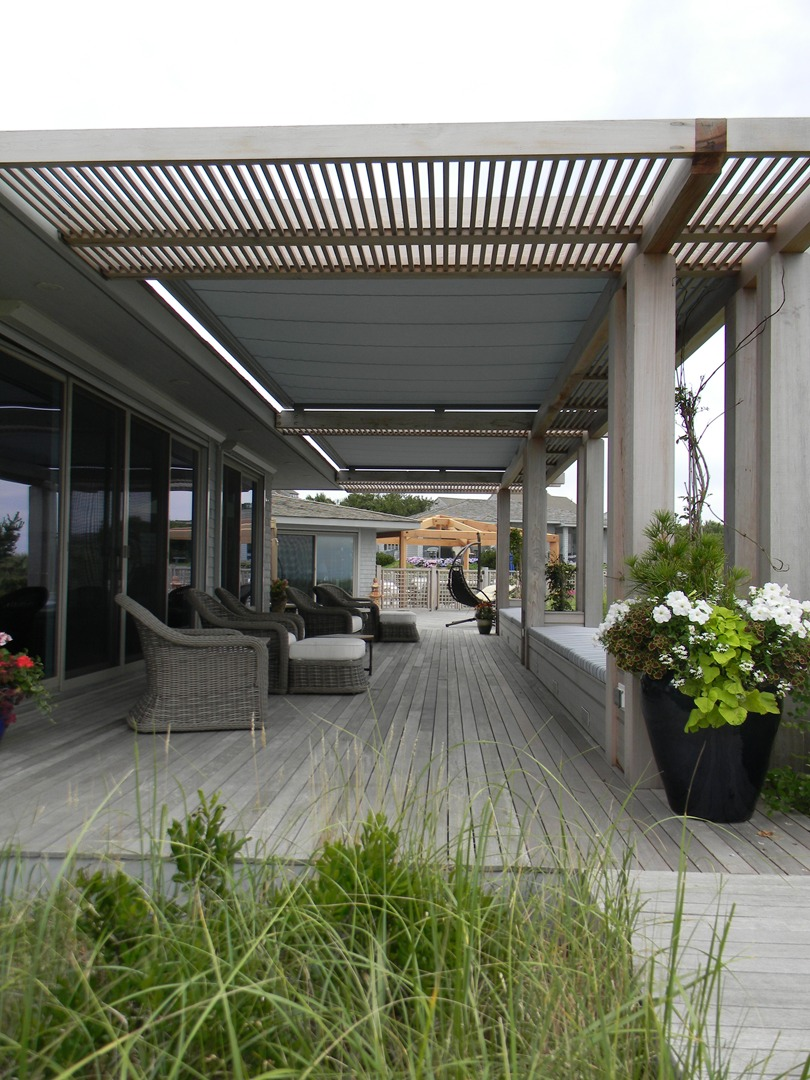 Pergola W/ Markluix M8800 Awning Extended