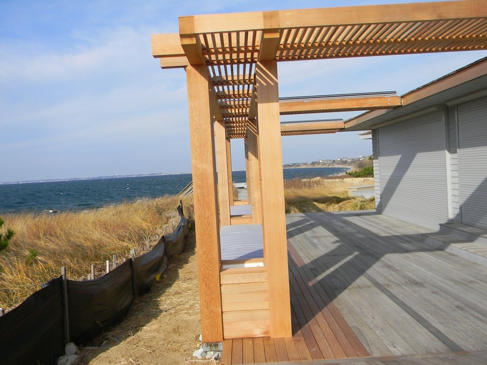 Pergola W/ Markluix M8800 Awning Retracted