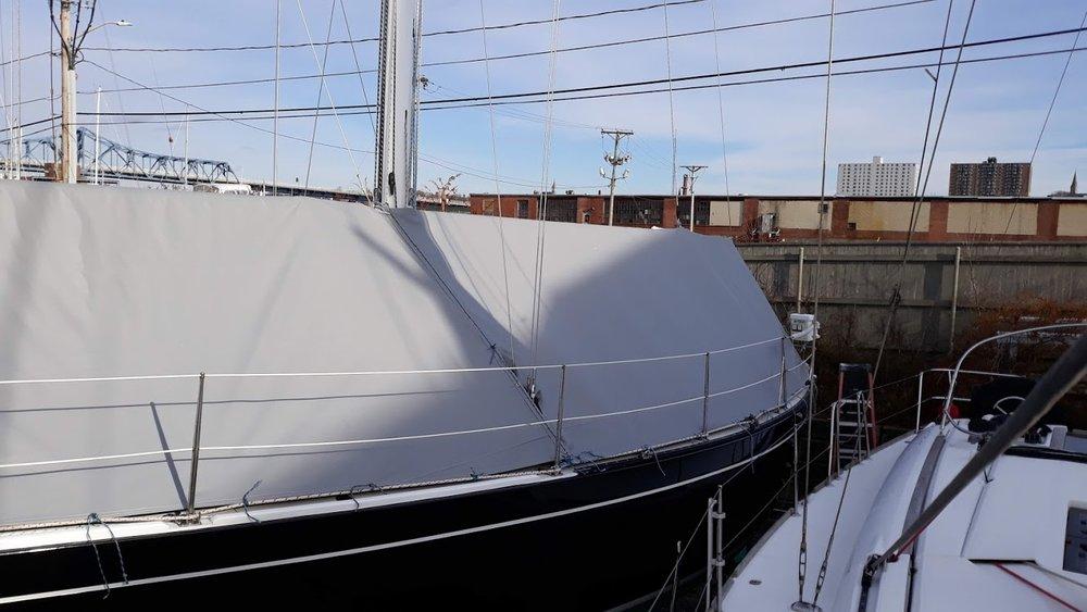 Custom Winter Storage cover - Sailboat
