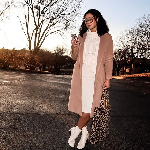 The longer Spring takes to come, the more wear I get out of my Winter clothes 🤷🏽♀️#monochromatic #ootd #ootdfashion  Shop this look @21buttons_us