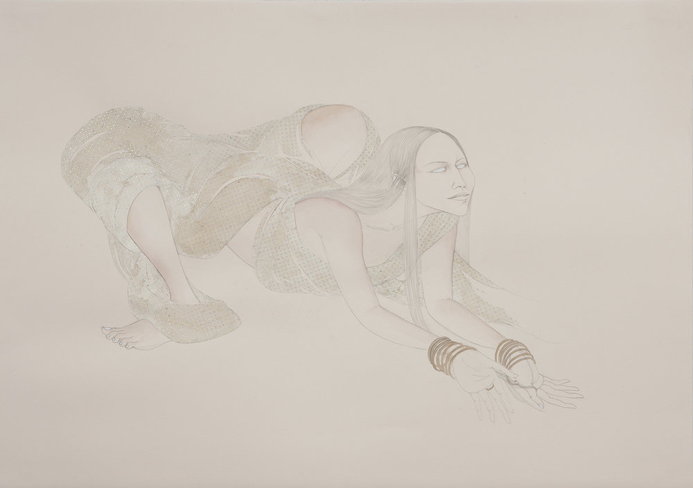 Backwards Hands & Feet II , 2011 Graphite, watercolor, ink and collage on ivory Fabriana Rossapina 27.5 x 39 inches Private collection Photo: Bill Orcutt