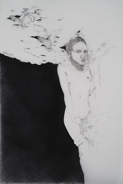 Night , 2014 Graphite on drafting film 30 x 22 inches Photo: Bill Orcutt