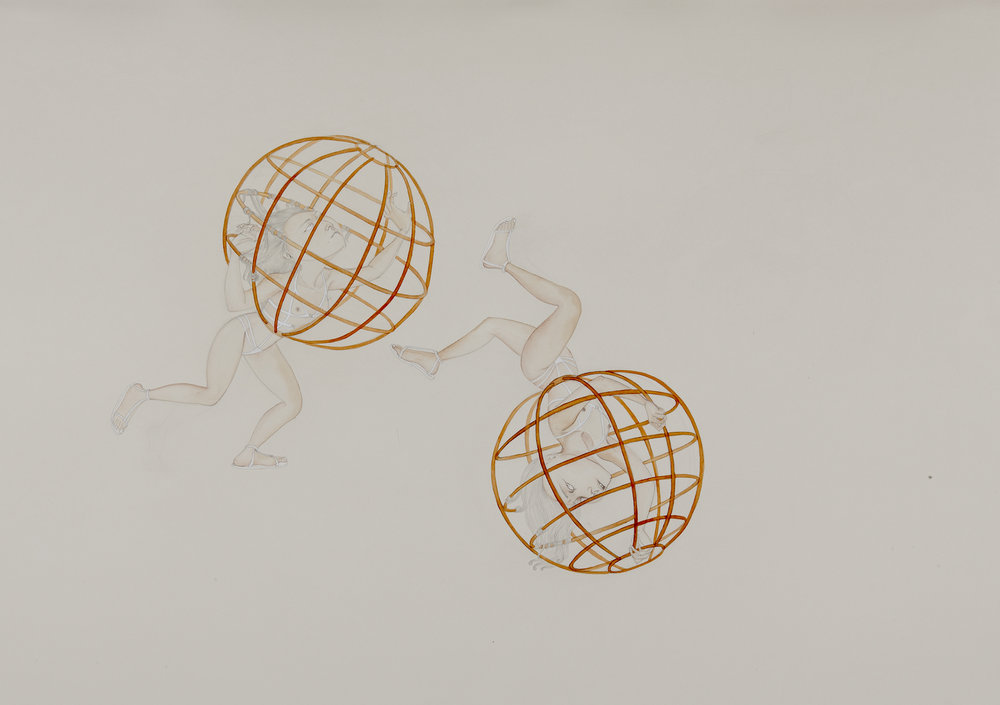 Lo-co-mo , 2012 Graphite, watercolor, ink on ivory Fabriana Rosaspina 27.5 x 39 inches Private collection Photo: Bill Orcutt