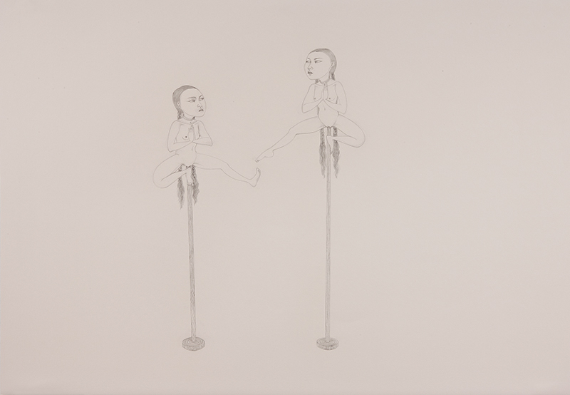 Footsies , 2012 Graphite on Fabriana Rosaspina 27.5 x 39 inches Photo: Bill Orcutt