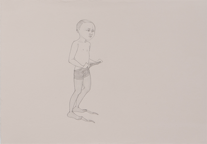 Check , 2011 Graphite on ivory Fabriana Rosaspina 9 x 13.5 inches Private collection Photo: Bill Orcutt