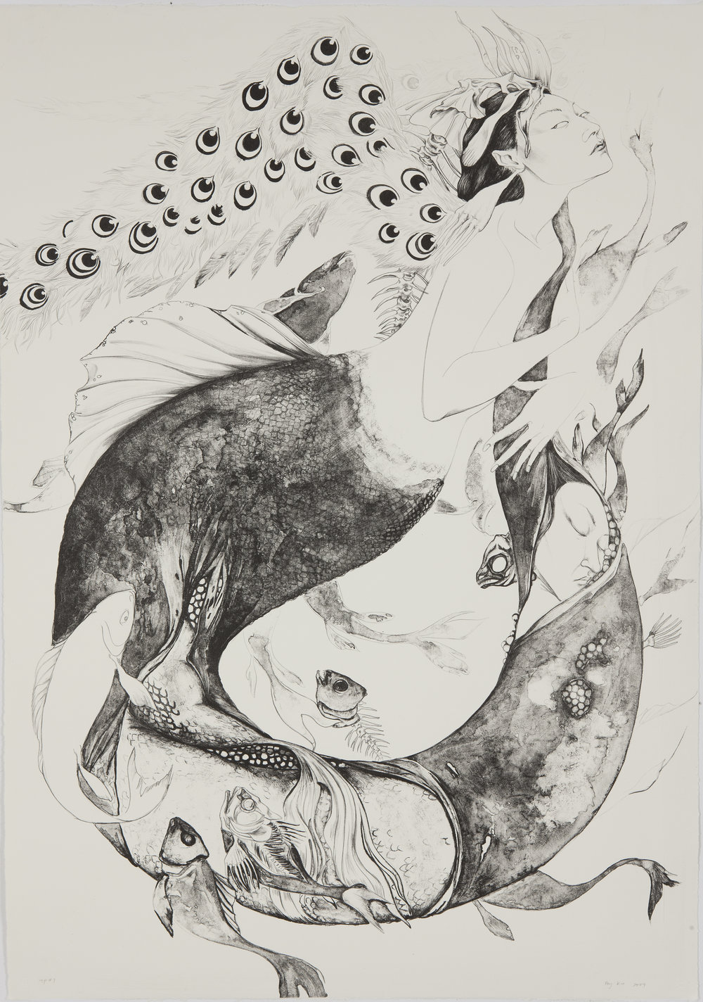 Sea Change , 2009 Single-color lithography on German Etching paper 30 x 42 inches  In collaboration with the Tamarind Institute/Master Printer Bill Lagattuta
