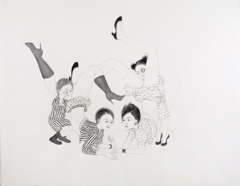 Intimate Details , 2007 Graphite on paper 38 X 50 inches Private collection