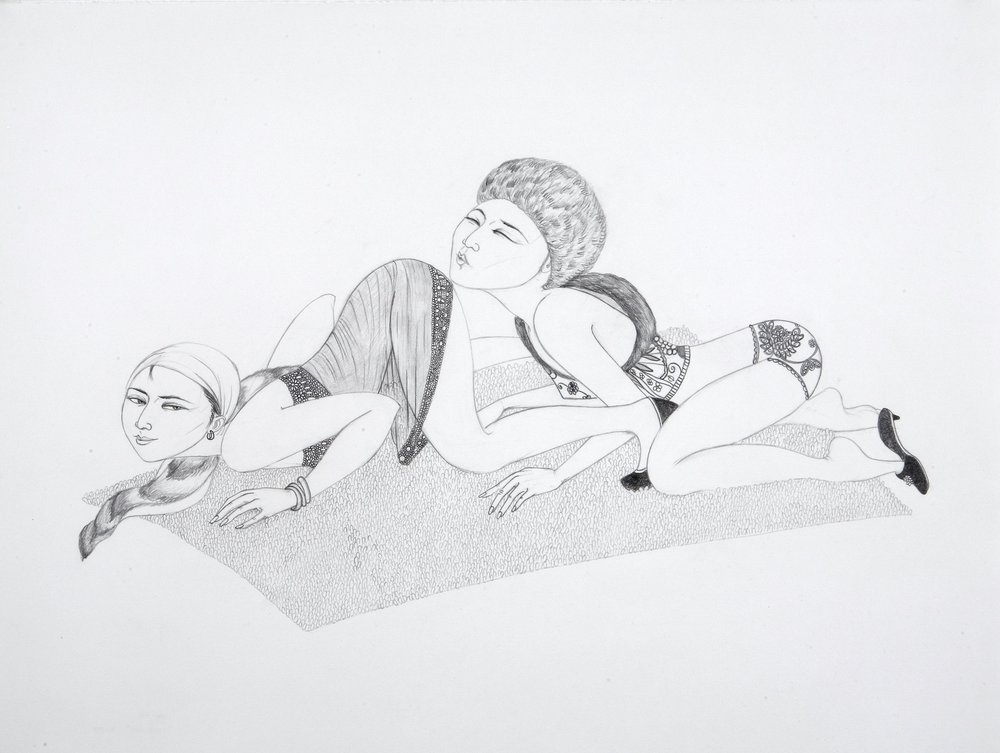 Kiss Ass , 2007 Graphite paper 19.5 X 25 inches