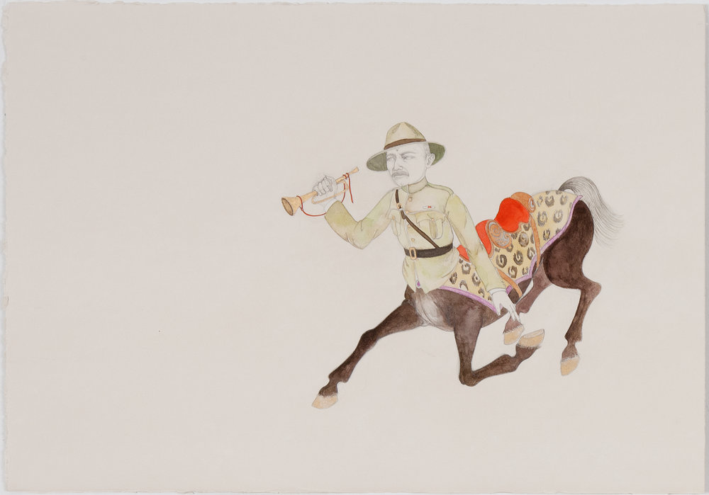 Scout (preparatory drawing) , 2011 Graphite, watercolor on ivory Fabriana Rosaspina 13.5 x 19 inches Private collection Photo: Bill Orcutt