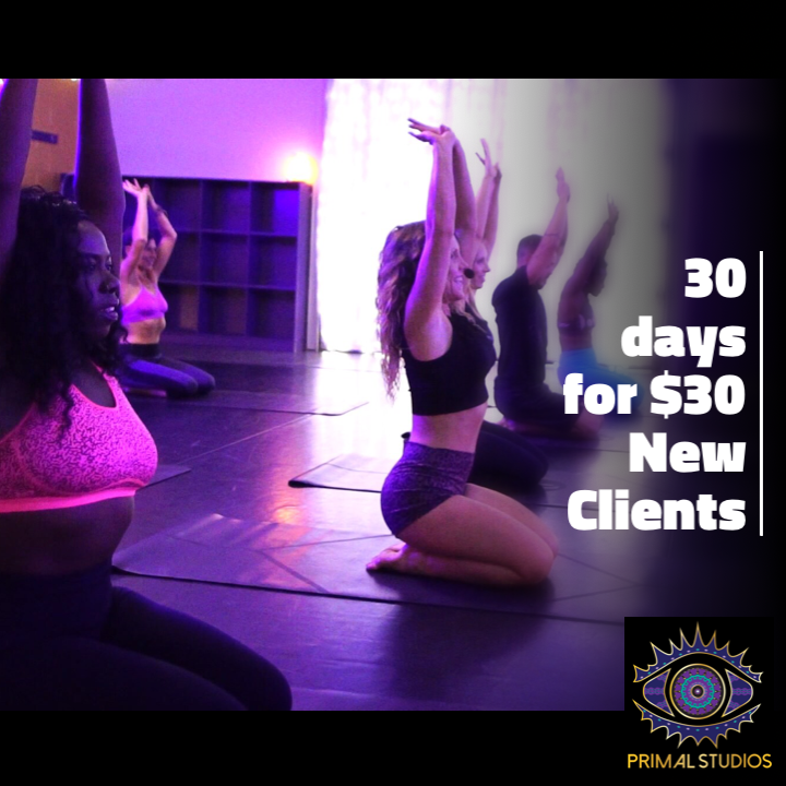 New Clients 30 Day Pass - $30 for Drop-In Classes