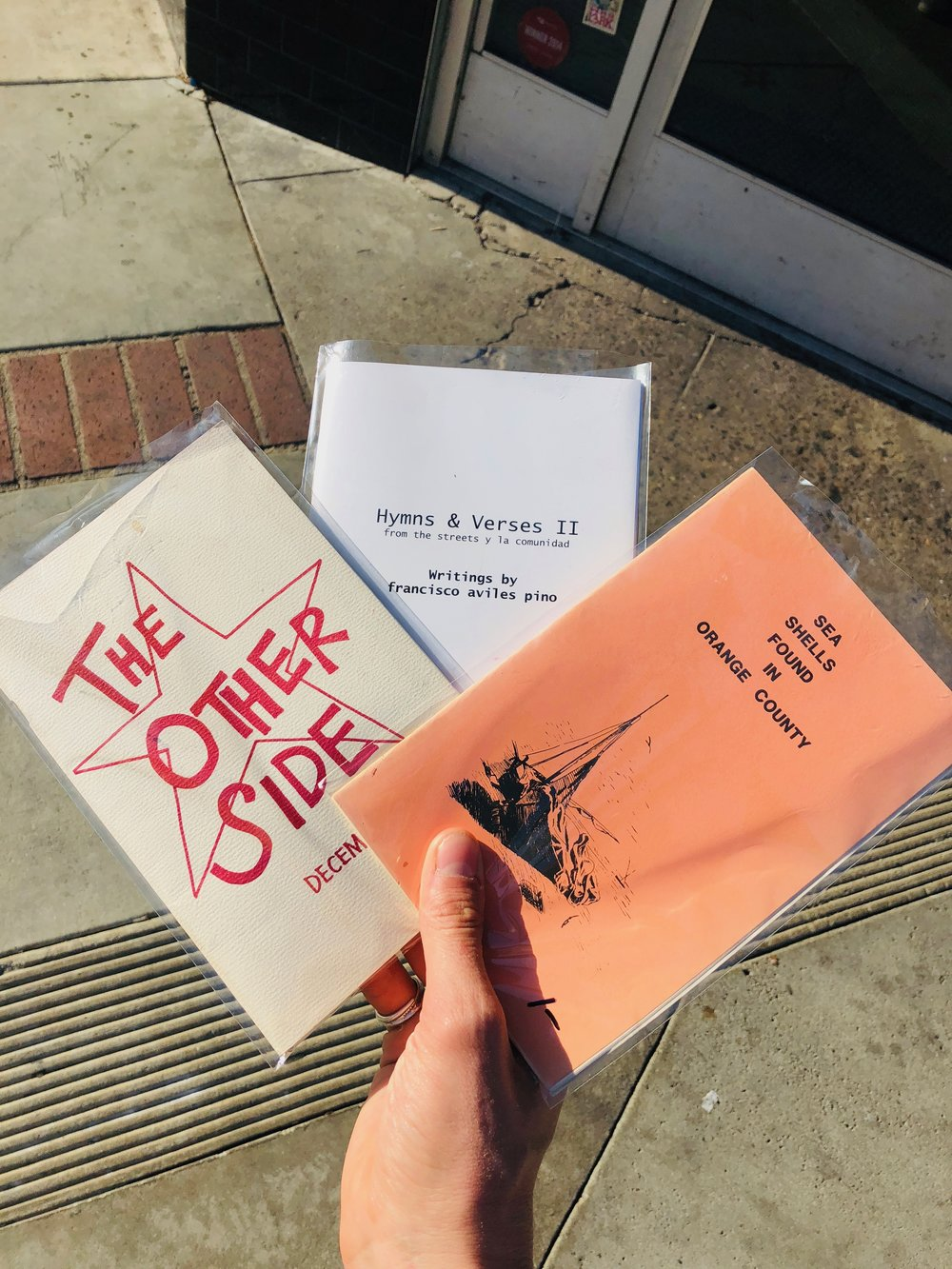 The final selection of zines for purchase at  Libro Mobile . Santa Ana, California.