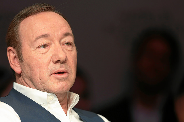 DAVOS, SWITZERLAND, Jan. 22, 2016 - Kevin Spacey, Actor and Director, USA captured during the session 'An Insight, An Idea with Kevin Spacey' at the Annual Meeting 2016 of the World Economic Forum in Davos, Switzerland  [PHOTO: WORLD ECONOMIC FORUM/swiss-image.ch/Jolanda Flubacher via    Flickr   .]