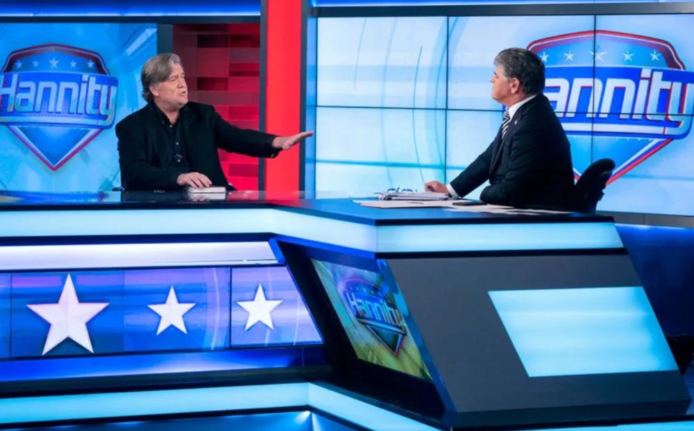 Steve Bannon appears on Sean Hannity's Fox News show on October 9, 2017. [AP / Craig Ruttle]