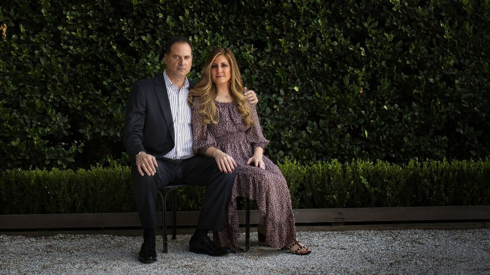 John and Diane Vidalakis settled a lawsuit against obstetrician Dr. Patrick Sutton after he severely injured Diane during the delivery of their daughter at Huntington Memorial Hospital.  [Photo: Gina Ferazzi / Los Angeles Times]