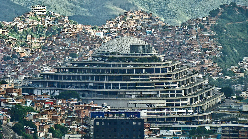 The Helicoide building in Caracas, where Billy Six is being held.  [Photo: Damián D. Fossi Salas, via Wikimedia Commons]