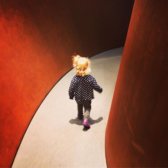 Not her first visit to @sfmoma but Serra's Sequence sure made the lady oooh and aaah more than she ever has in a museum