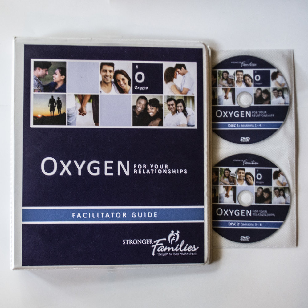 Oxygen For Your Relationships - Stronger Families - Ready to breathe fresh air into your relationship?The eight-session Oxygen for Your Relationships course will empower you and your spouse with proven strategies to enhance communication, build empathy, resolve conflict and rekindle your romance—right now and for years to come. You'll gain a better understanding how your personalities impact your partnership, and how to better relate to the one you love. A few topics covered include: conflict resolution, communication,understanding our differences, 7 Keys to Incredible Sex, and the power of forgiveness.To learn more, visit https://strongerfamilies.com/