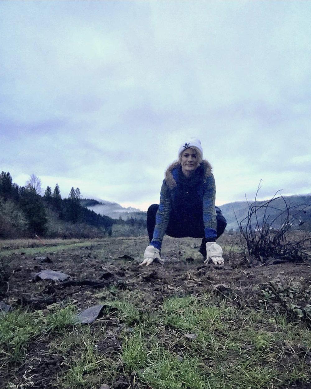 Anna on the East Fork farm. Follow Anna @exitdrug