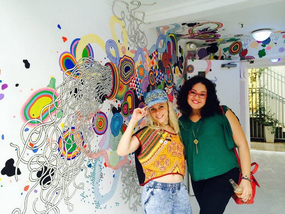 With fellow Artpreneur, Jen Stark 2 Art Basels ago!