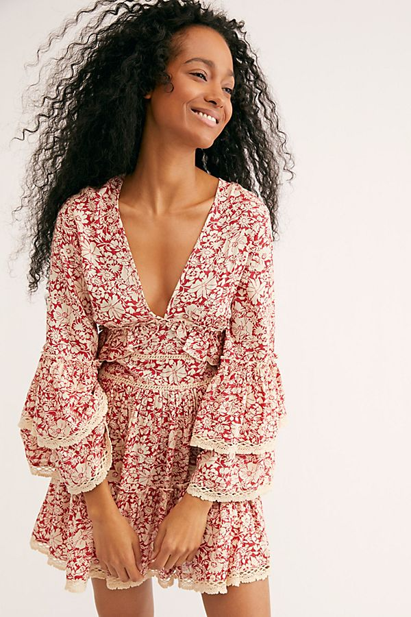 4. Kristall Mini Dress - I love the style on this little boho dress. The back is open and the sleeves are dreamy!Shop it here.