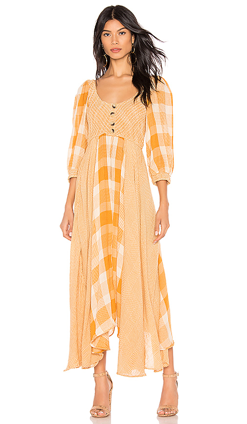 6. Free People Old Friends Maxi Dress - How adorable is this dress?! The colours and mismatching patterns are just perfect.Shop it here.