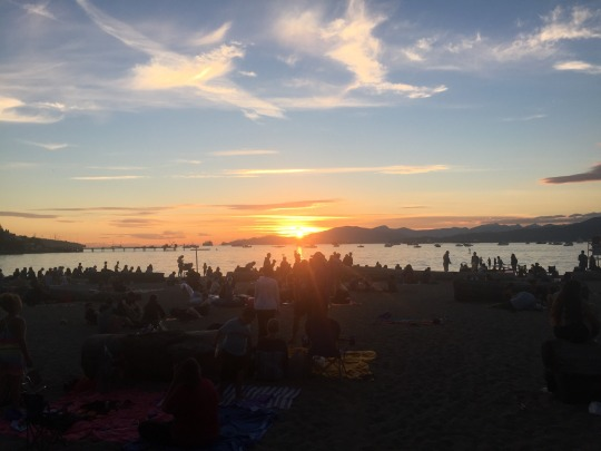 Sunset at Kits Beach
