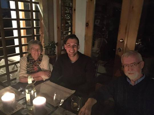 having dinner with Hildegard Westerkamp and Barry Truax