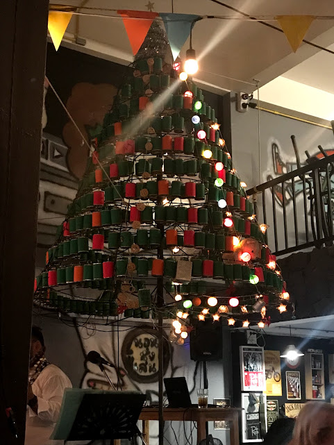 The Christmas Tree at Norn Nung Len hostel.