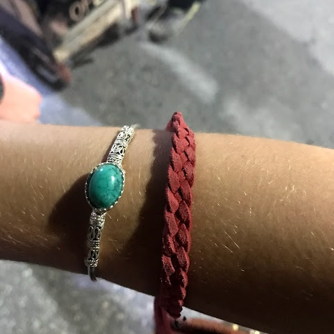 Great combo with my red, anti-mosquito bracelet, don't ya think!?