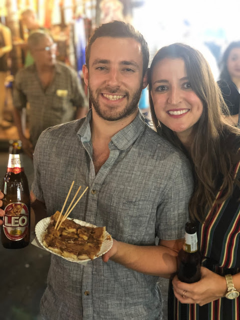 Our sweet friends, self professed foodies, and founders of the  @dcbucketlister,  Nenner and Jess.