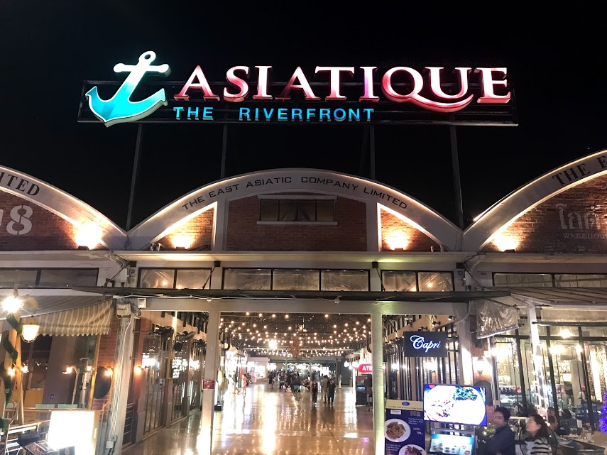 The riverfront at Asiatique in Bangkok.