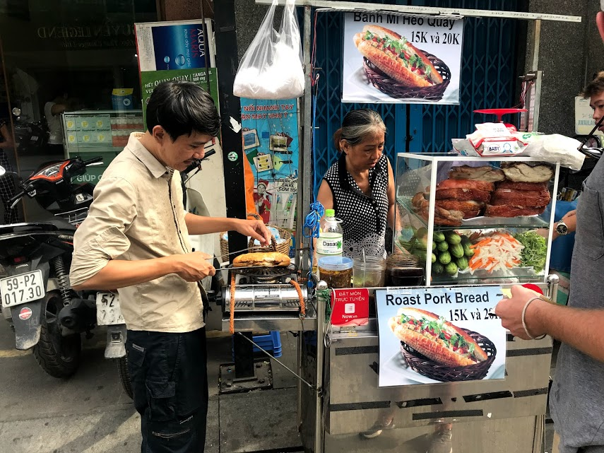 We picked up Banh Mi #2 at a small food stall on Bui Vien walking street.