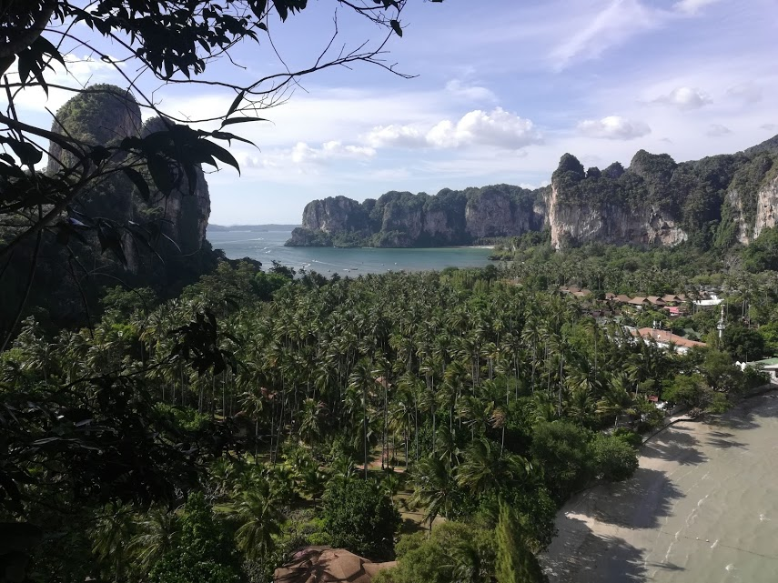 The view from Dave's climb on Railay.