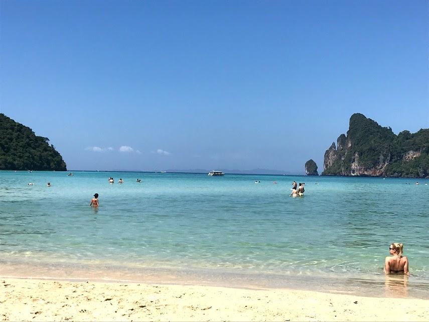 The crystal clear water at Ko Phi Phi Don beach.