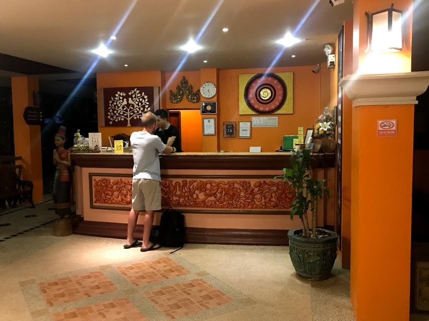 Checking in at the Panyavee Ao Nang Bay Resort.