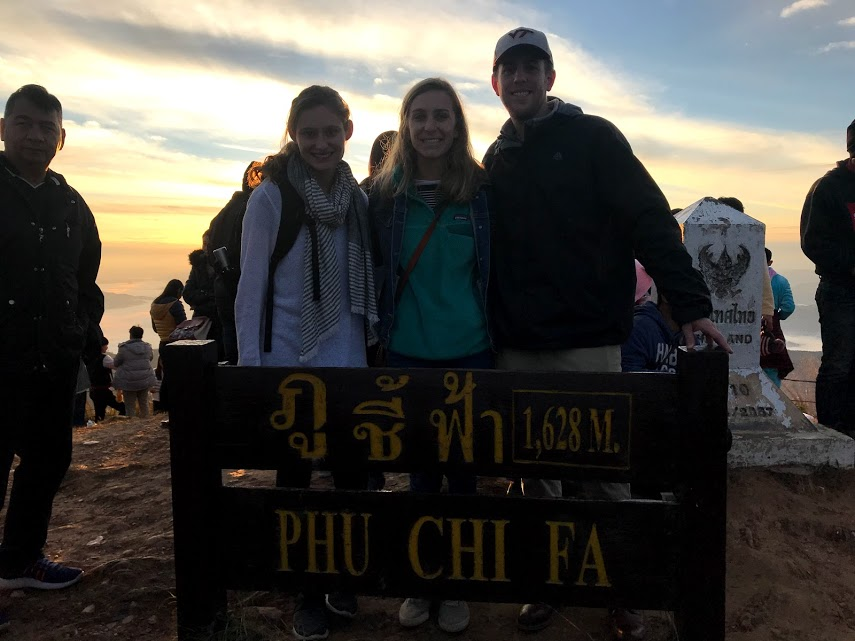 Alex, Dave, and I on the peak right after the sunrise!