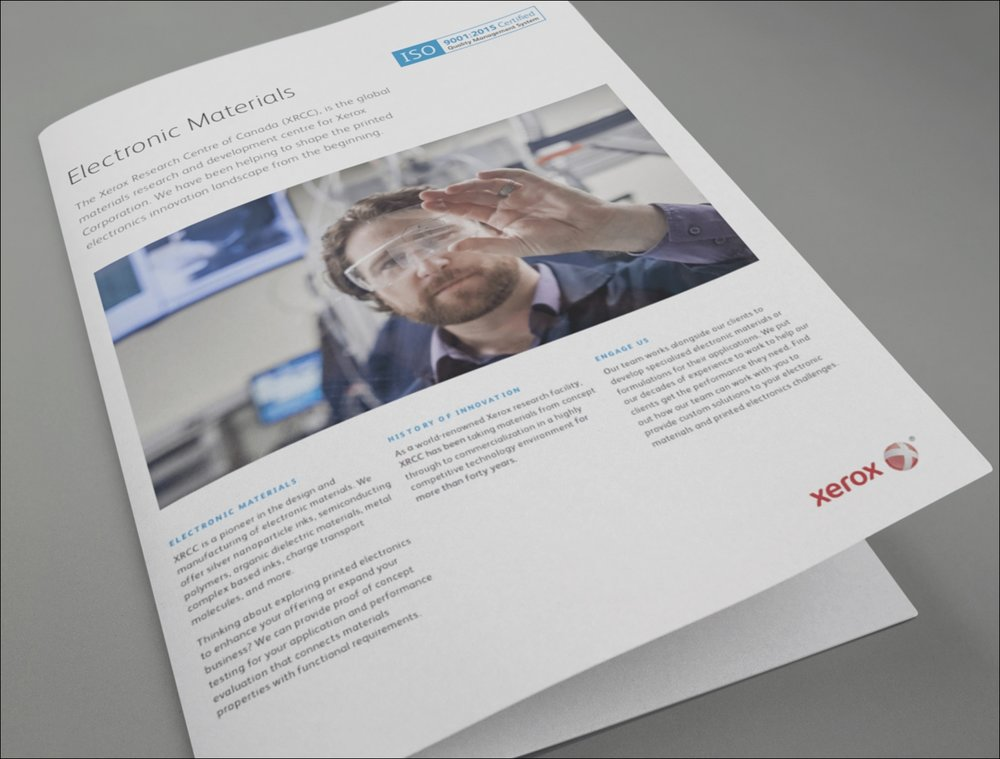 Branded product brochure for Electronic Materials
