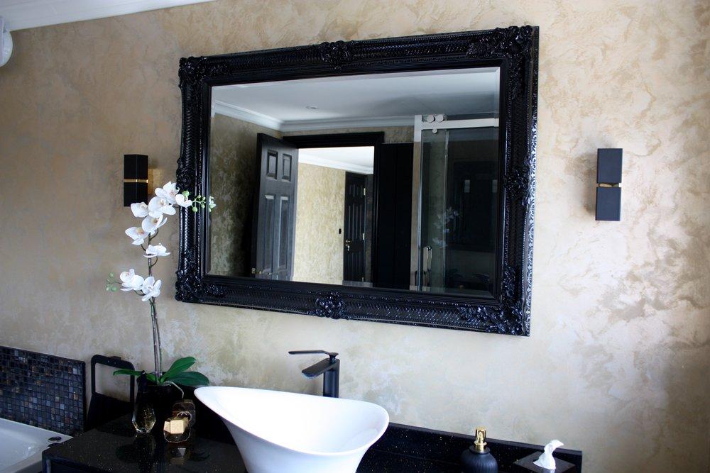 gold metallic texture bespoke wall finish bathroom