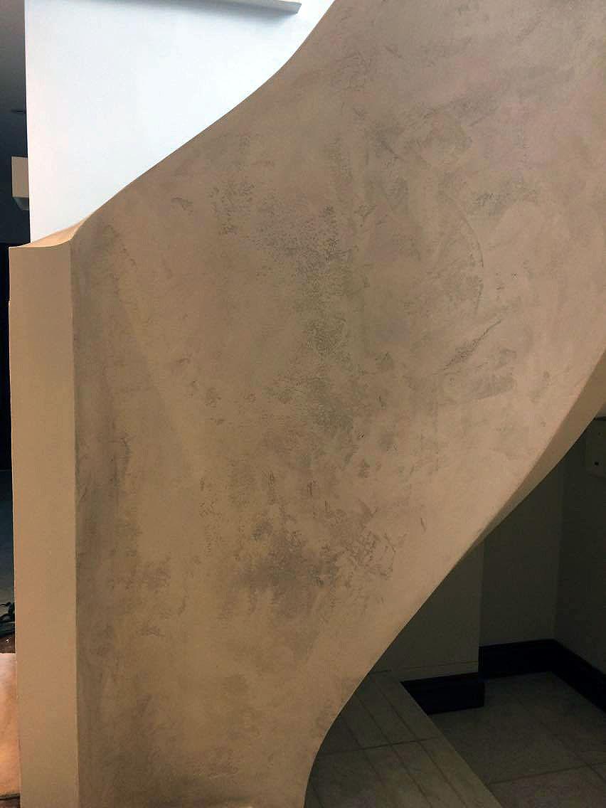 bespoke travertino polished plaster renovated stairs modern look unique fabulous finishes uk tammara mattingly 1
