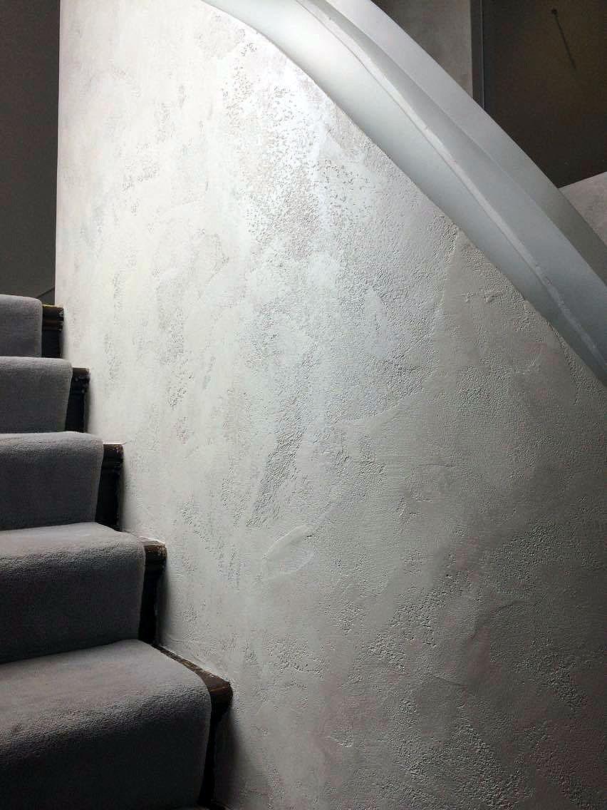 bespoke travertino polished plaster renovated stairs modern look unique fabulous finishes uk tammara mattingly 3