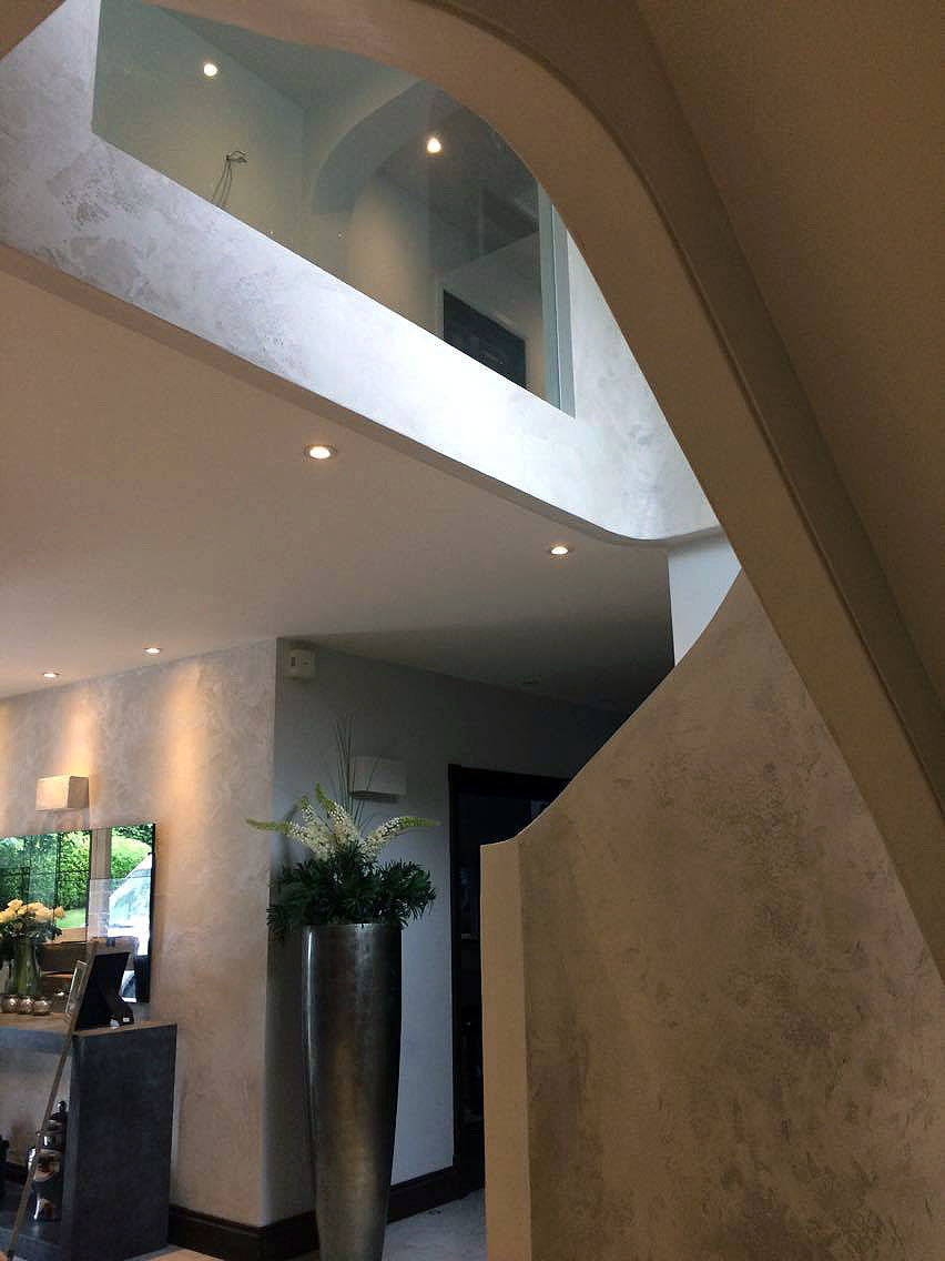 bespoke travertino polished plaster renovated stairs modern look unique fabulous finishes uk tammara mattingly 4