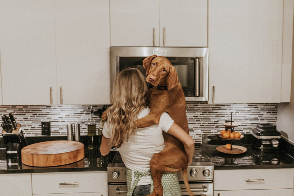 Cooking with my dog