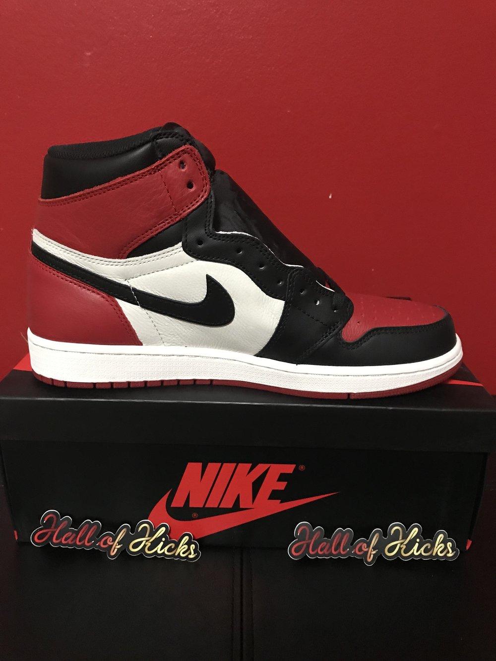 ca7a137d904 Air Jordan Retro 1 - Bred Toe — Hall of Kicks
