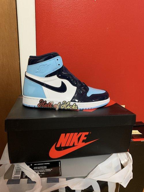 promo code 7c9e3 a2411 Air Jordan Retro 1 - Blue Chill  UNC Women s
