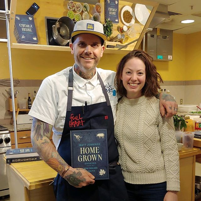 Yay! We are excited to bring @matthewjennings to pmg client partner @essexresortspa today! Chef Matt led a cooking demo today and will host a sold out dinner tonight featuring a menu inspired by his latest cookbook, Home Grown.