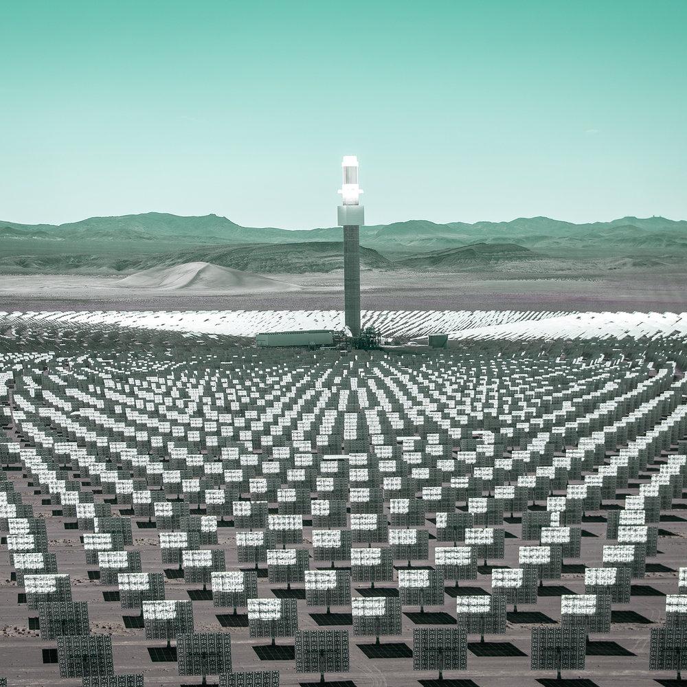 Nevada Crescent Dunes Solar Energy Project. Photo by the Bureau of Land Management.
