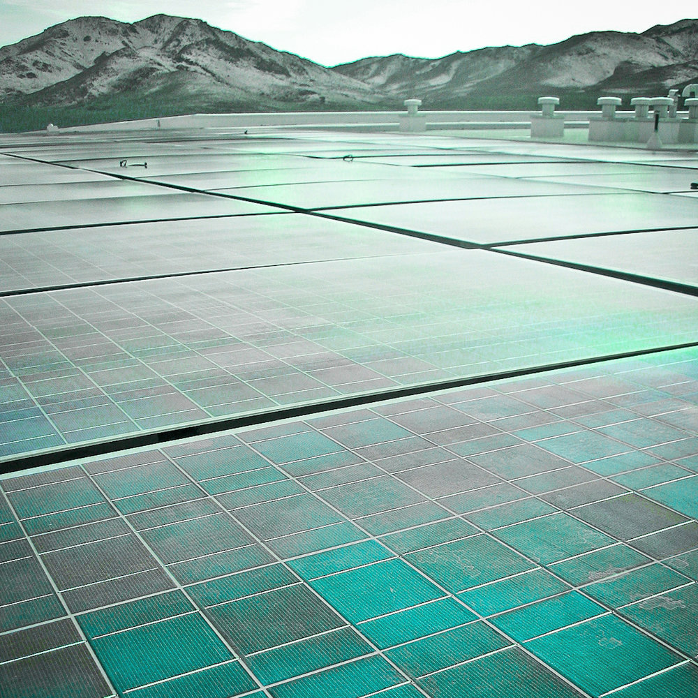 Black Rock Solar photovoltaic array at the Food Bank of Northern Nevada. Photo by Jessica Reeder.