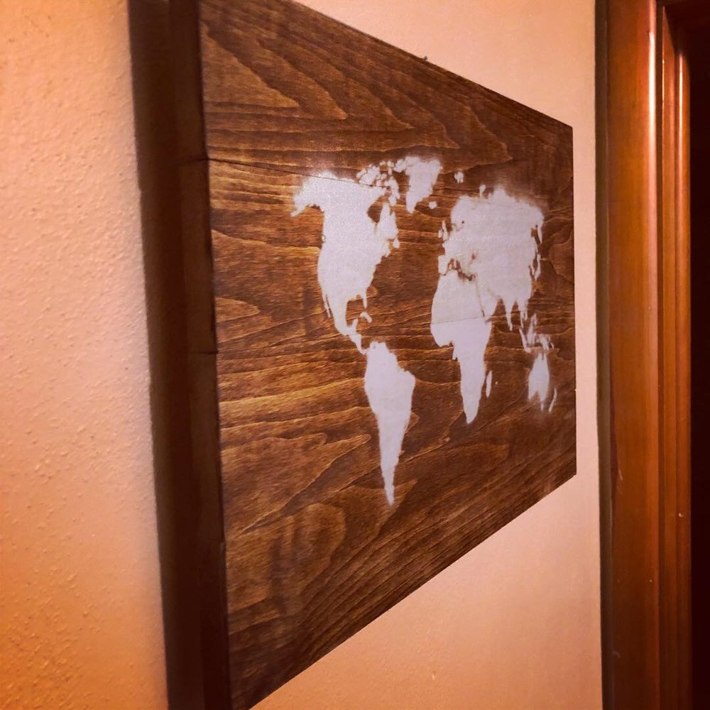 World Map Hanging Art