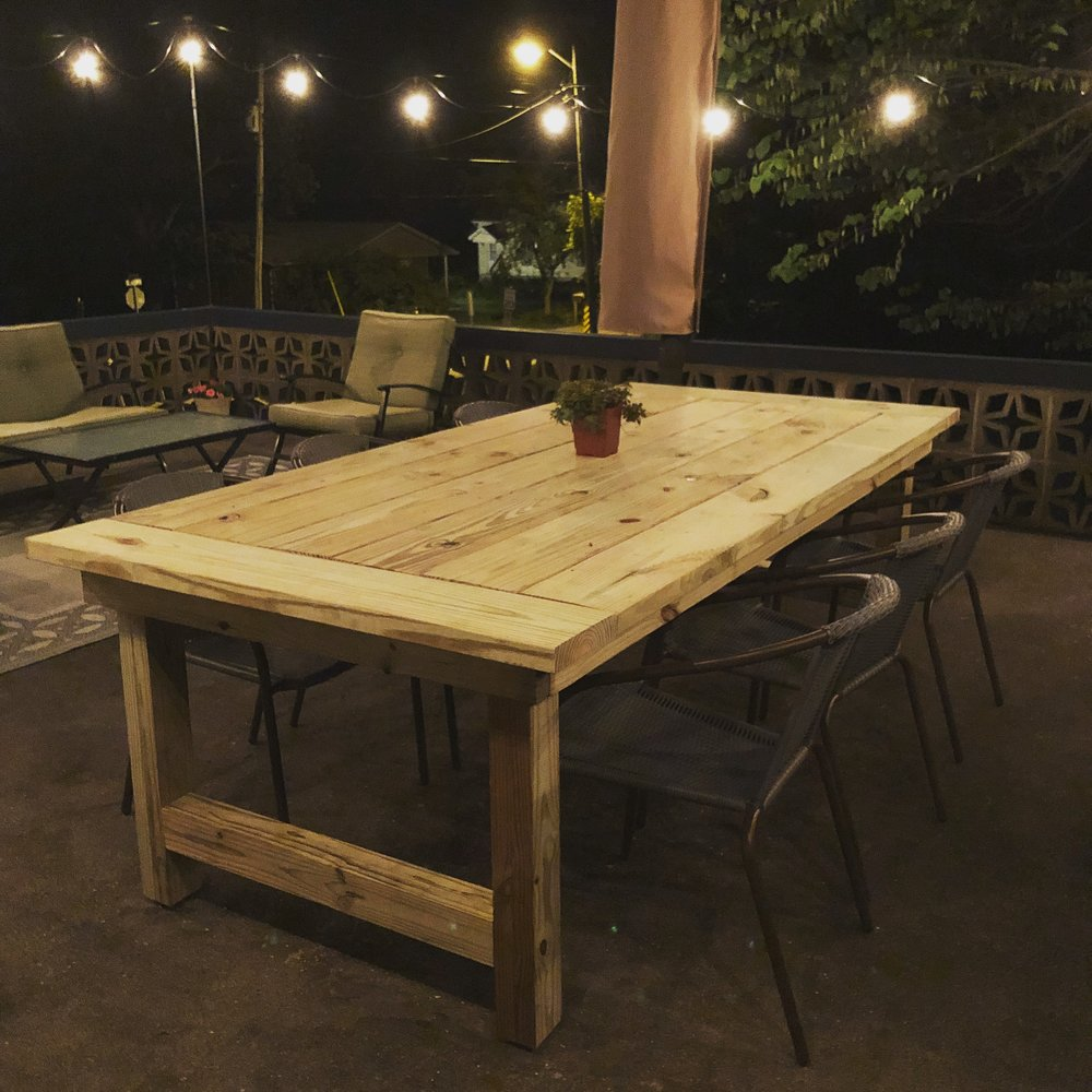 Rustic Patio Farmhouse Table