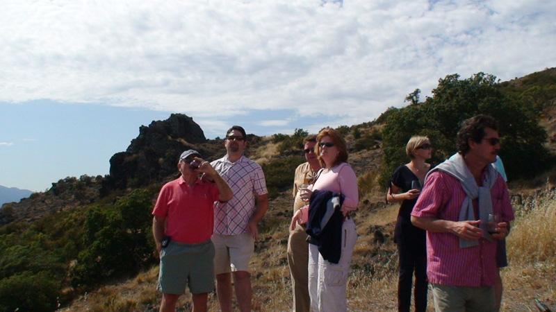 Trekking through Rockpile Vineyards